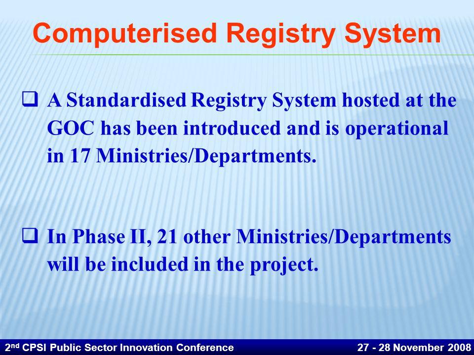 Computerised Registry System