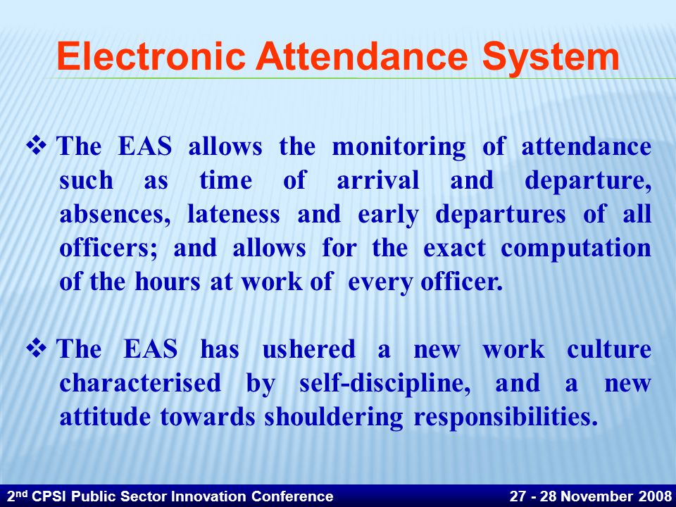 Electronic Attendance System