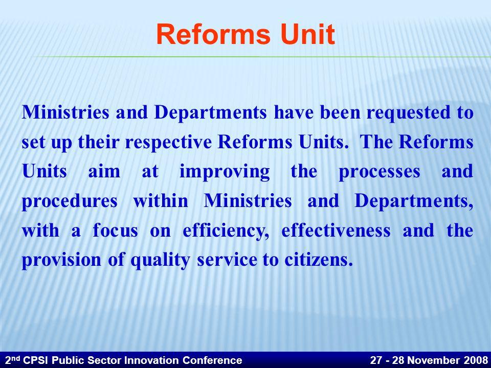 Reforms Unit