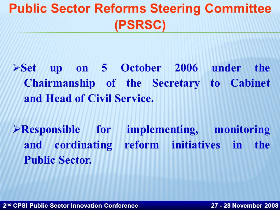 Public Sector Reforms Steering Committee