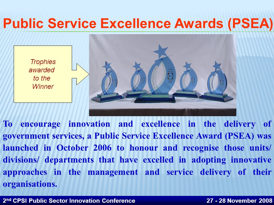 Public Service Excellence Awards (PSEA)