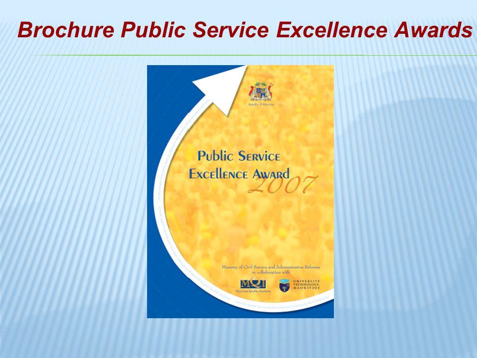 Brochure Public Service Excellence Awards