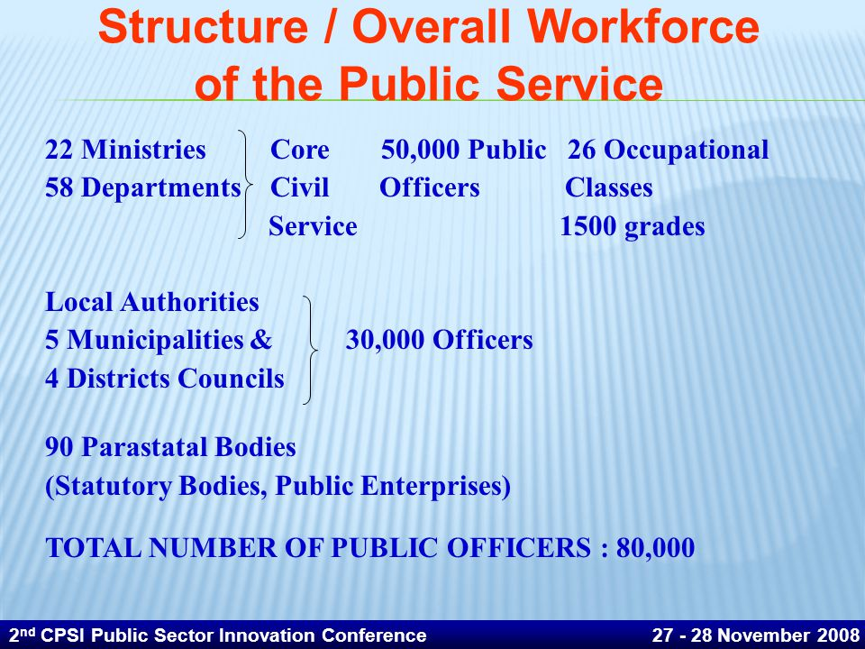 Structure / Overall Workforce of the Public Service
