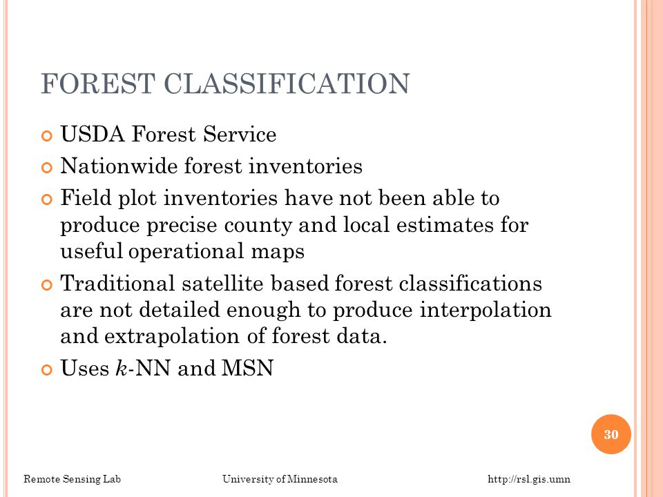 FOREST CLASSIFICATION