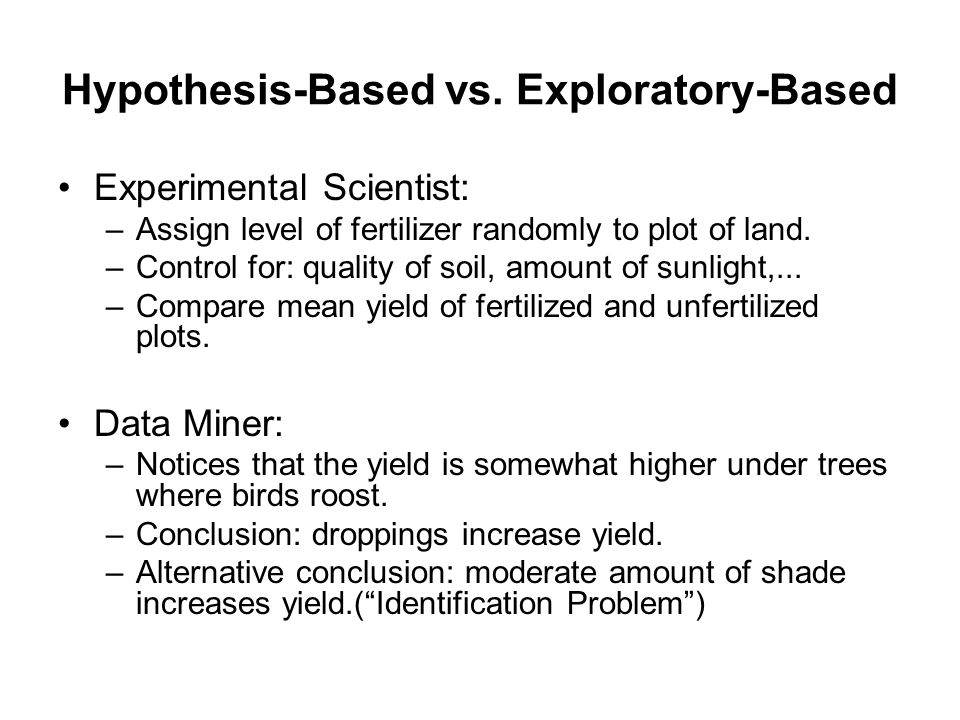 Hypothesis-Based vs. Exploratory-Based