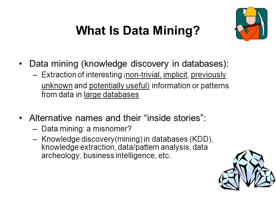What Is Data Mining Data mining (knowledge discovery in databases):