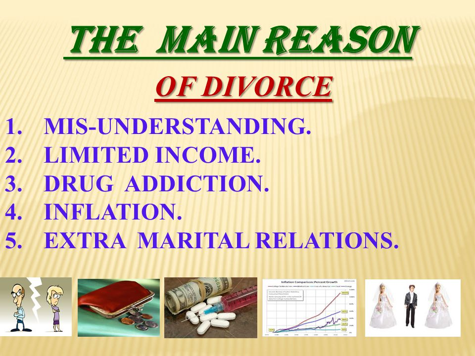 THE MAIN REASON OF DIVORCE MIS-UNDERSTANDING. LIMITED INCOME.