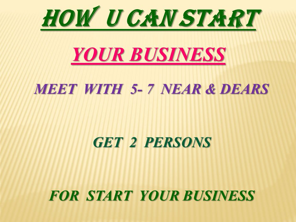 FOR START YOUR BUSINESS