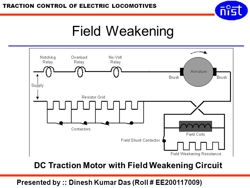DC Traction Motor with Field Weakening Circuit