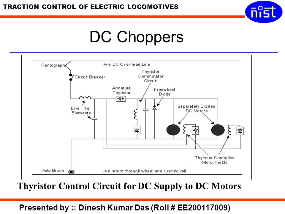 DC Choppers Thyristor Control Circuit for DC Supply to DC Motors