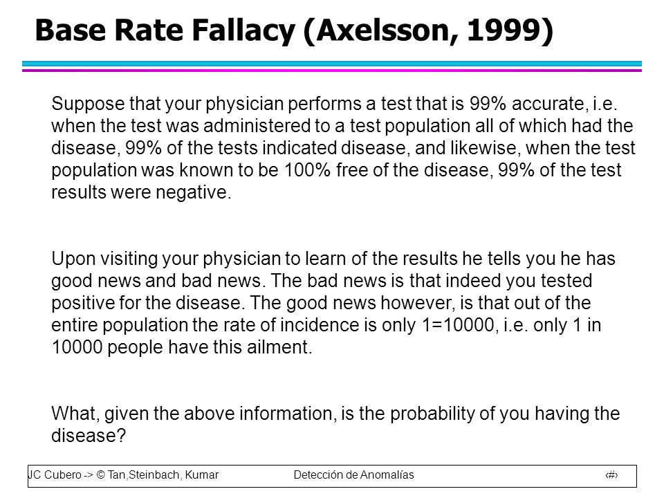Base Rate Fallacy (Axelsson, 1999)