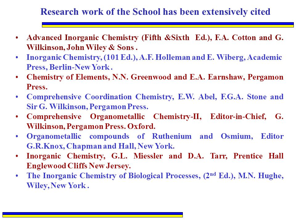 Research work of the School has been extensively cited