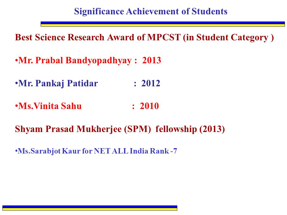 Significance Achievement of Students