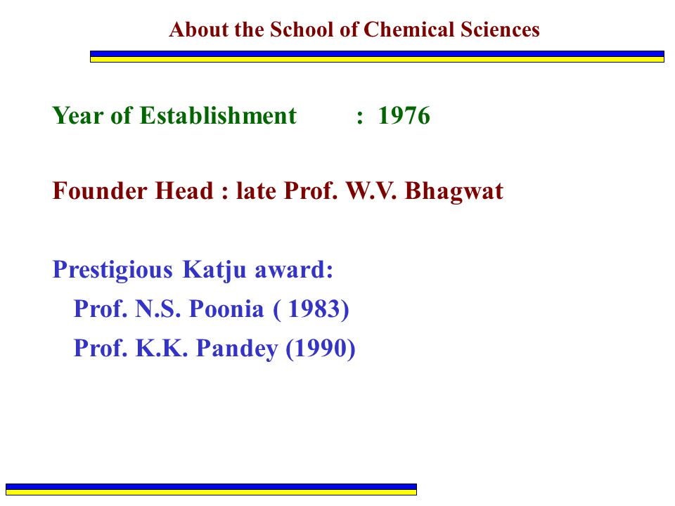 About the School of Chemical Sciences