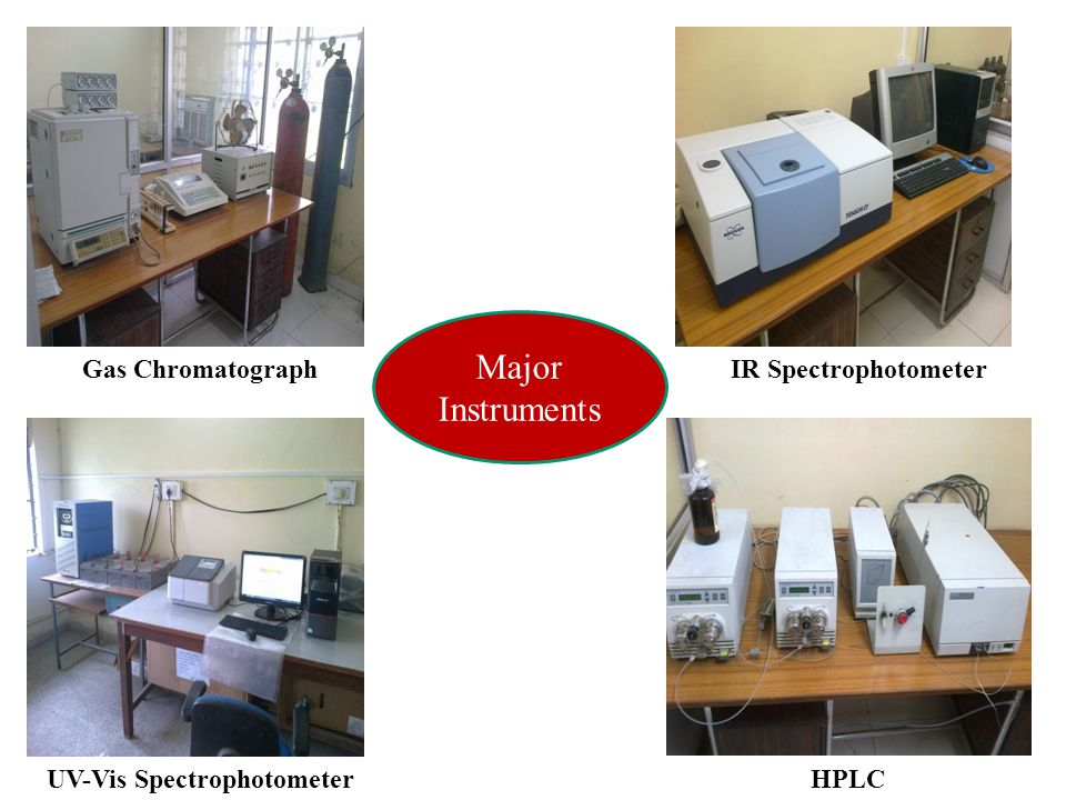 Major Instruments Gas Chromatograph IR Spectrophotometer