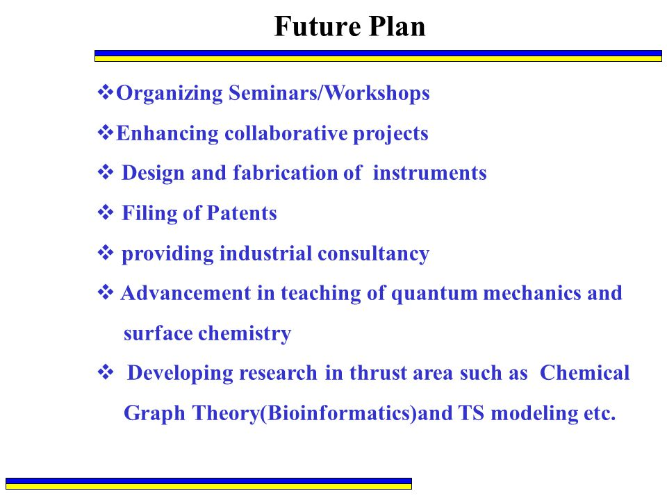 Future Plan Organizing Seminars/Workshops