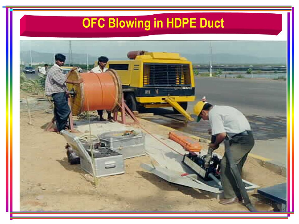 OFC Blowing in HDPE Duct