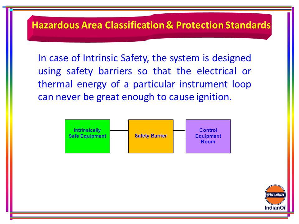 Hazardous Area Classification & Protection Standards