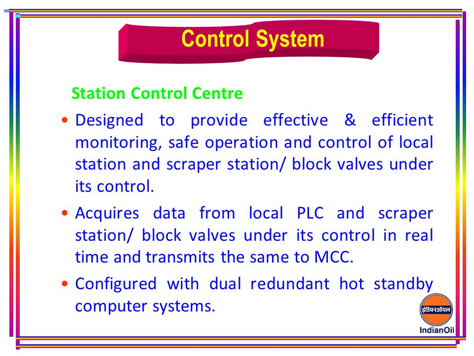 Control System Station Control Centre