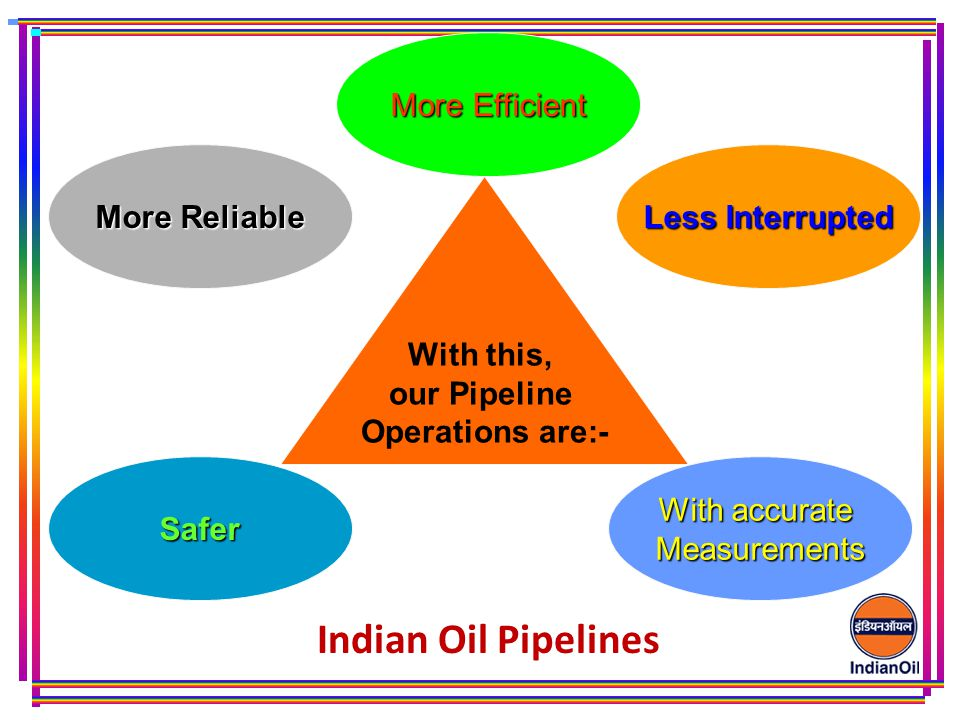 Indian Oil Pipelines More Efficient More Reliable Less Interrupted