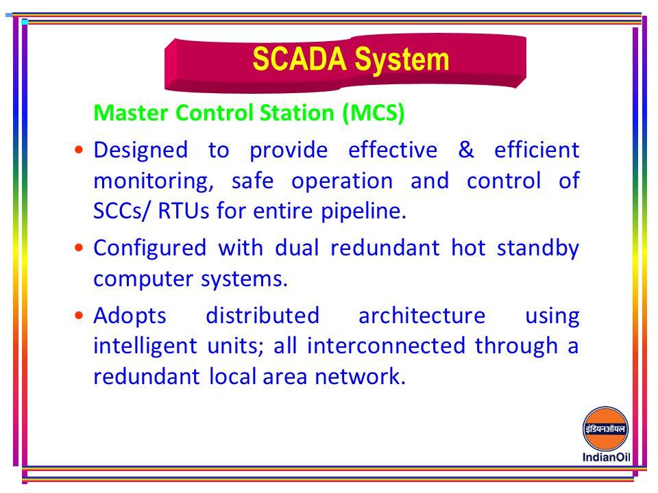 SCADA System Master Control Station (MCS)