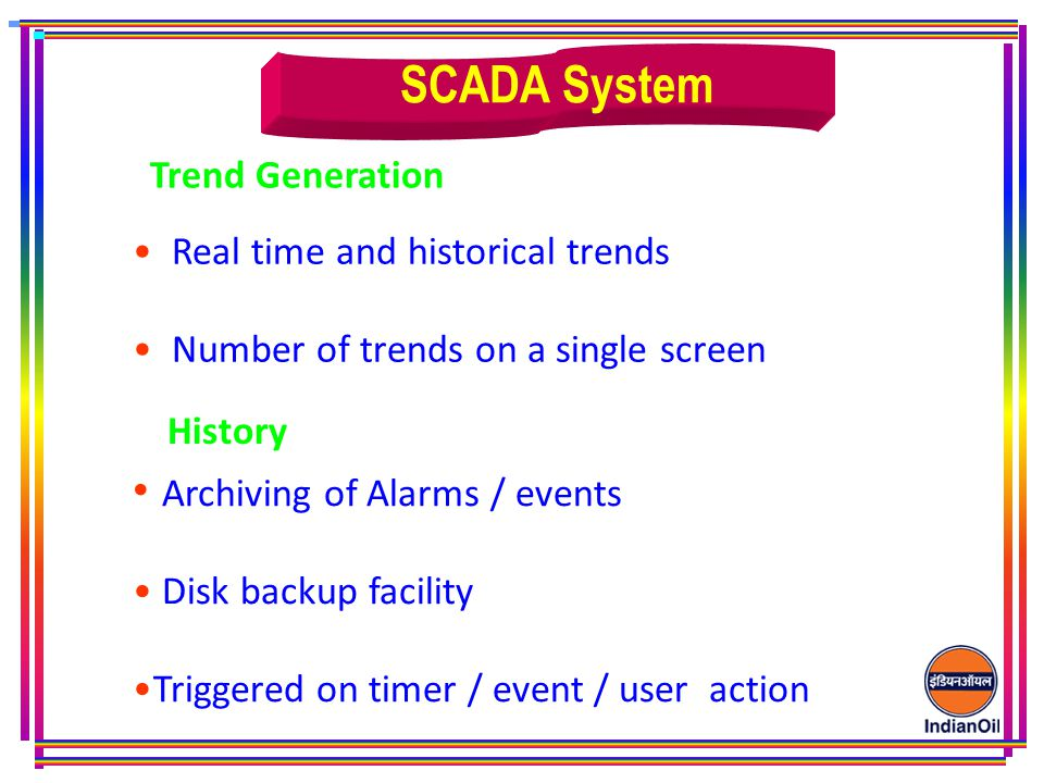 SCADA System Archiving of Alarms / events Trend Generation