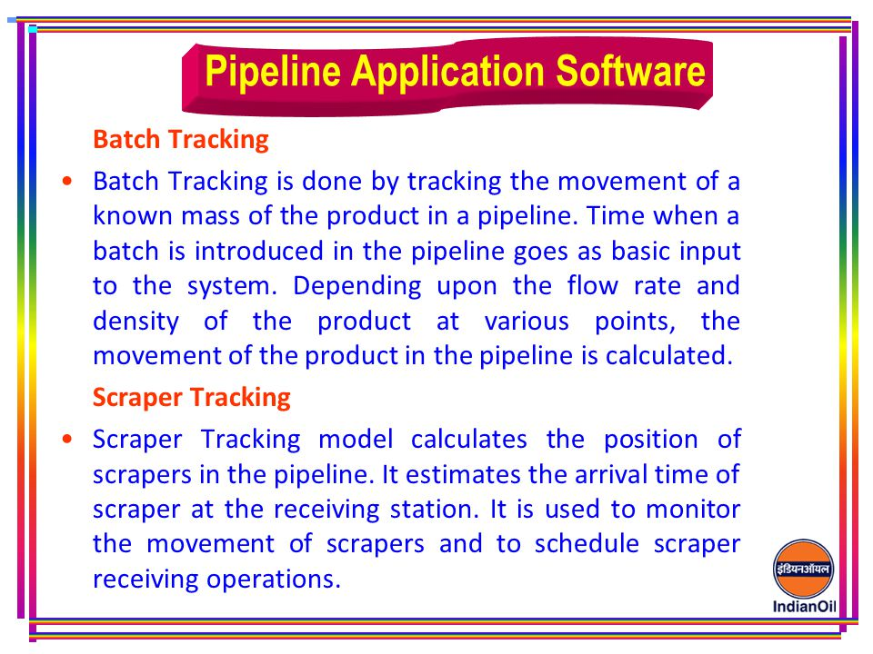 Pipeline Application Software