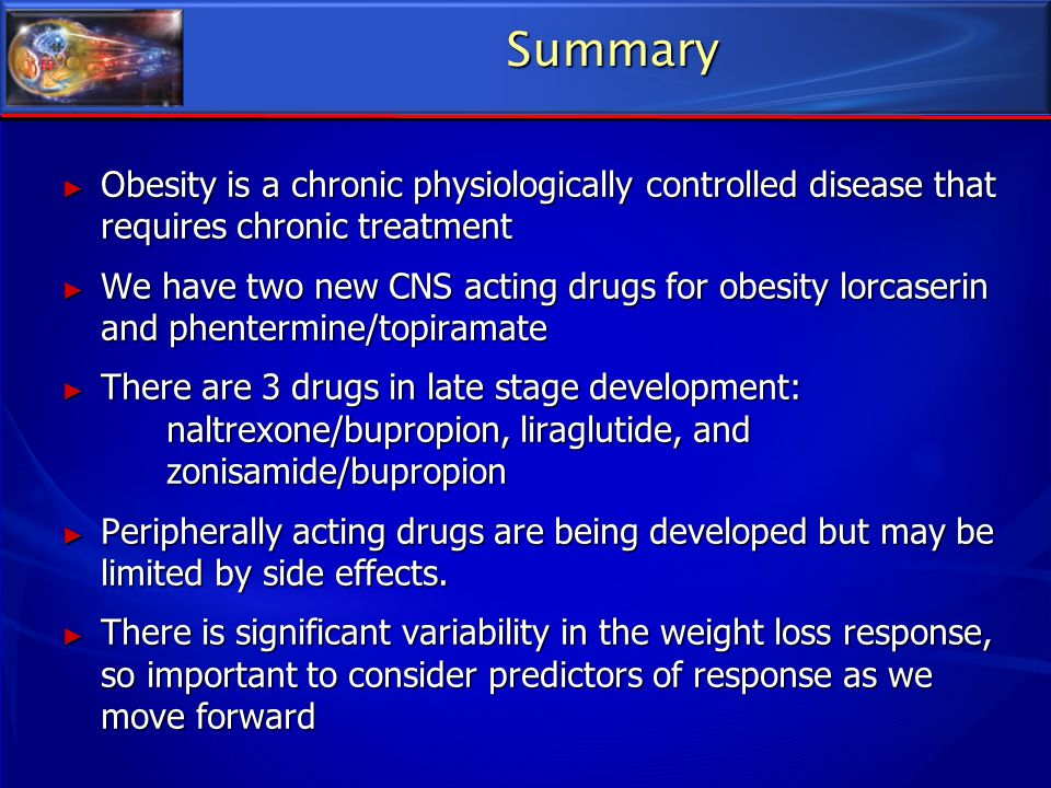 Summary Obesity is a chronic physiologically controlled disease that requires chronic treatment.