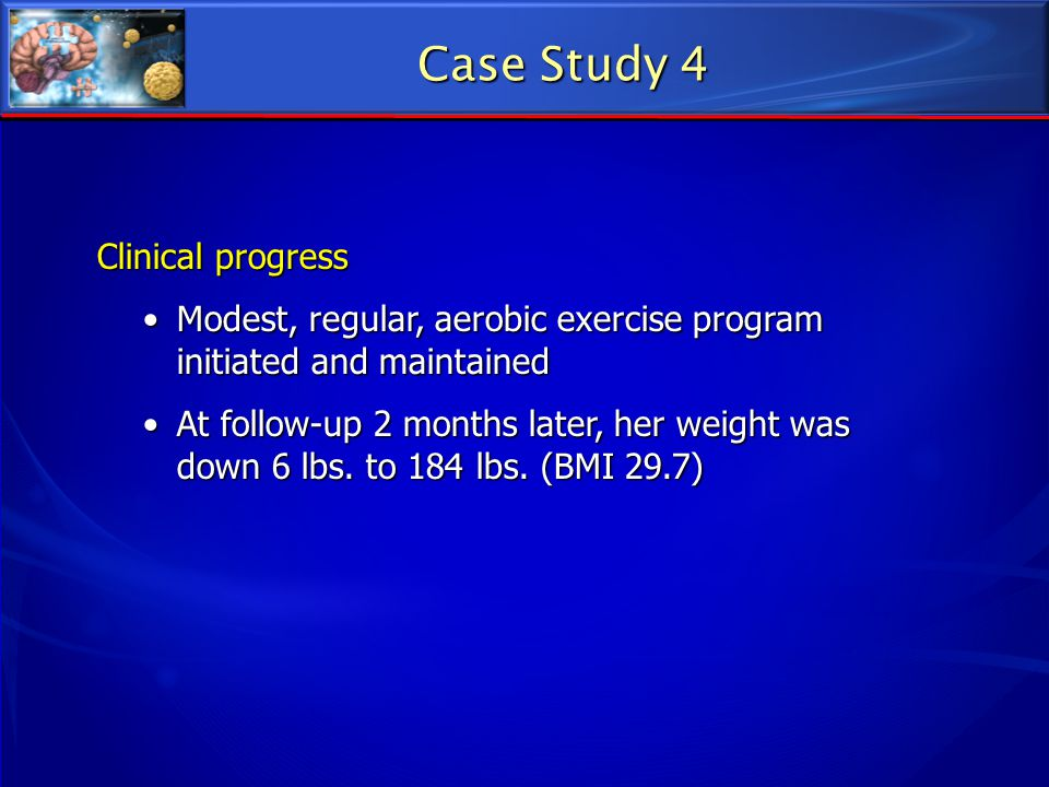 Case Study 4 Clinical progress