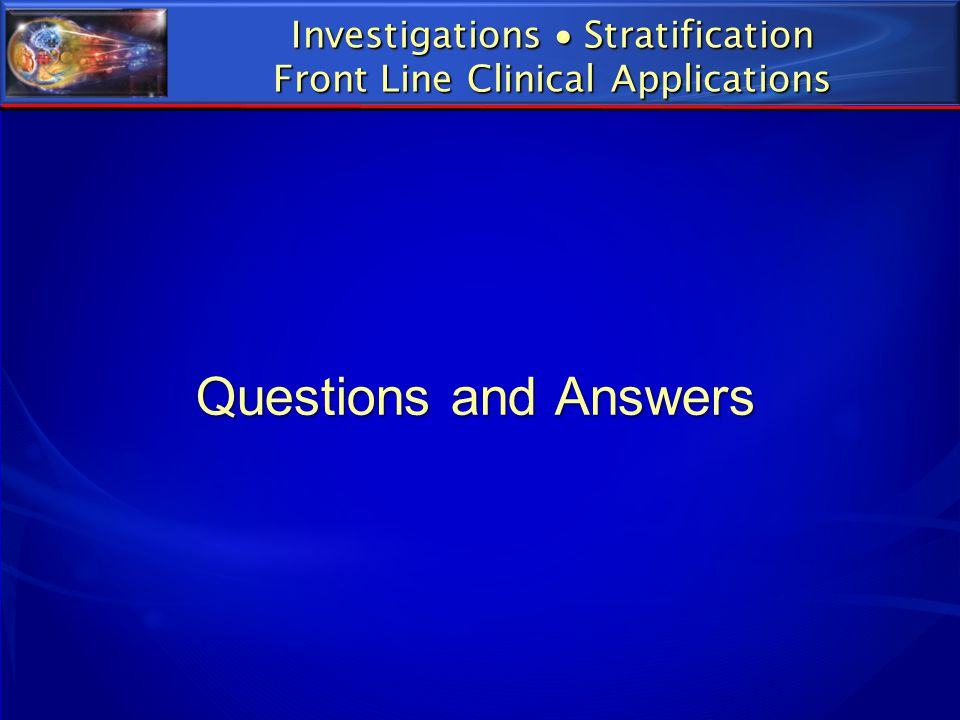 Questions and Answers Investigations  Stratification