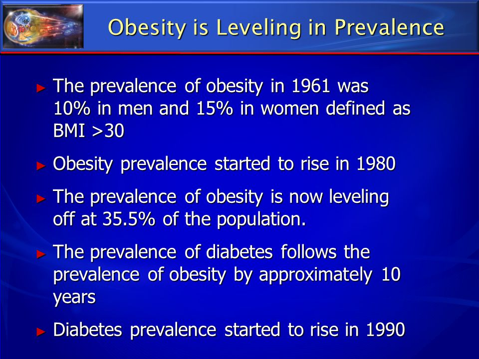 Obesity is Leveling in Prevalence