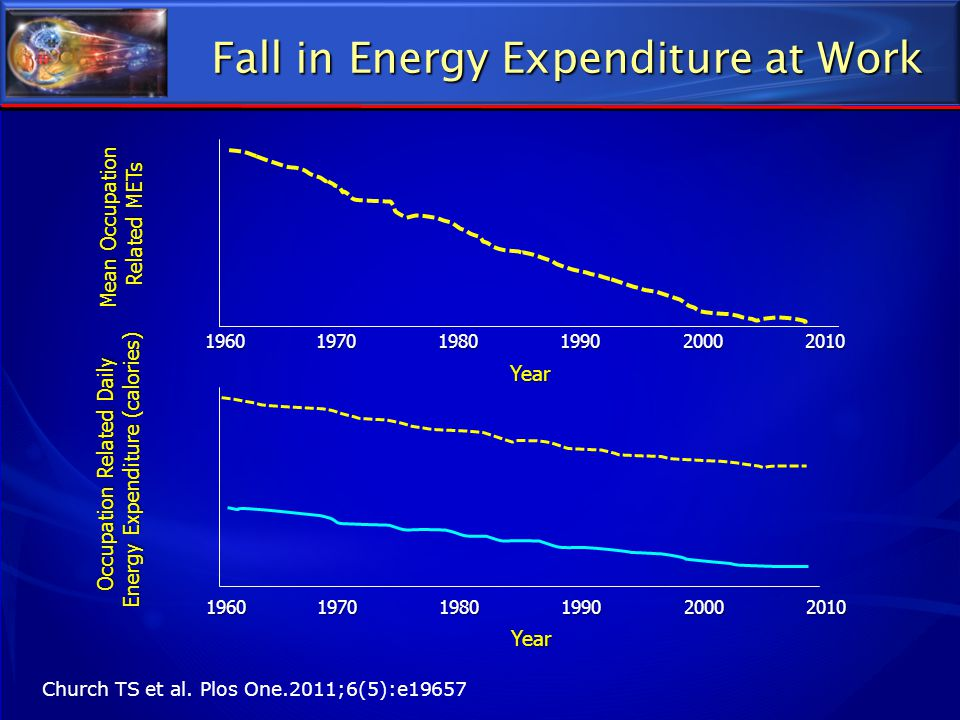 Fall in Energy Expenditure at Work