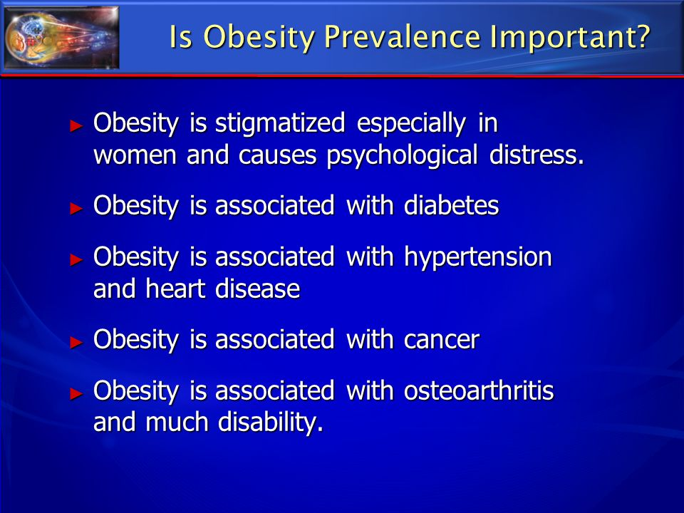 Is Obesity Prevalence Important