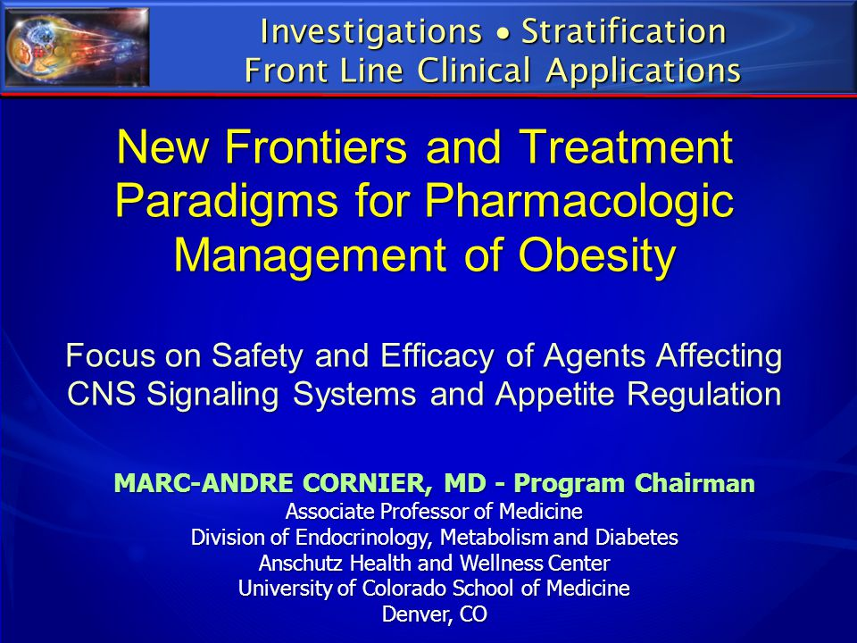 MARC-ANDRE CORNIER, MD - Program Chairman