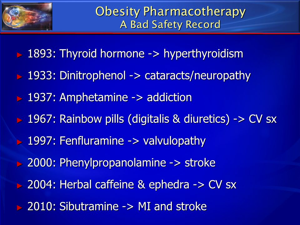 Obesity Pharmacotherapy A Bad Safety Record