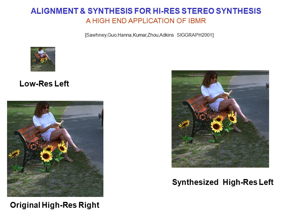 ALIGNMENT & SYNTHESIS FOR HI-RES STEREO SYNTHESIS