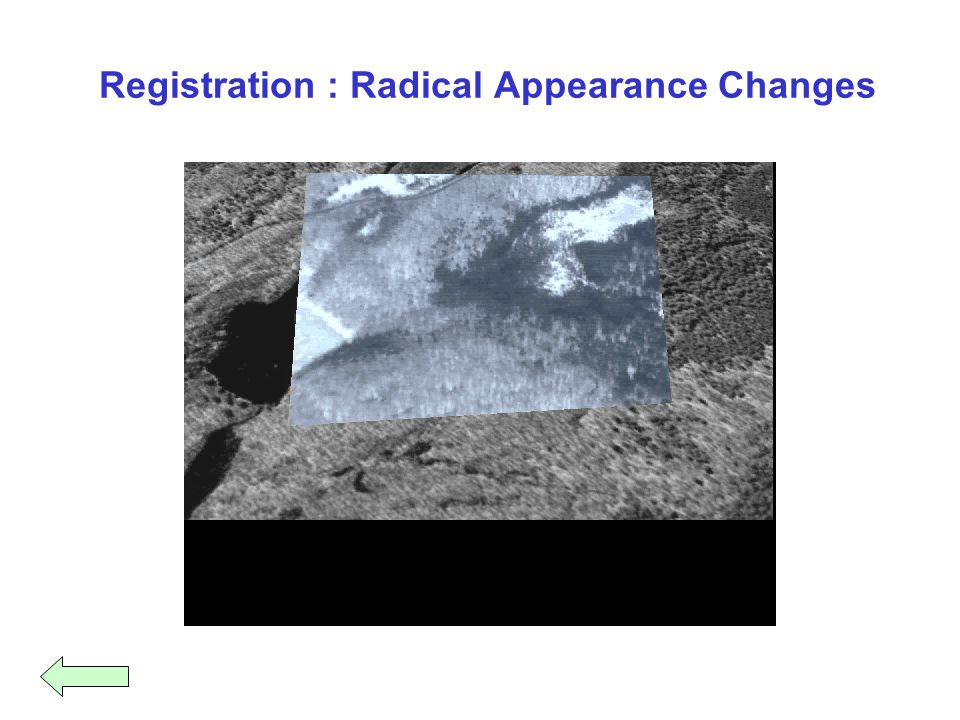 Registration : Radical Appearance Changes