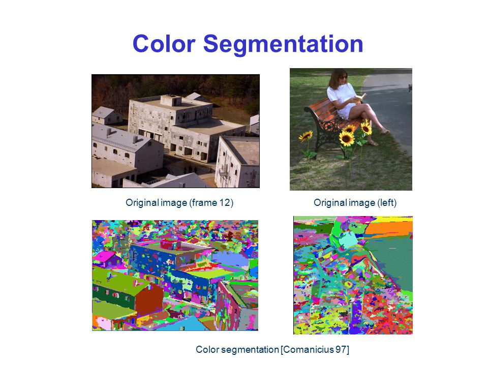 Color Segmentation Original image (frame 12) Original image (left)