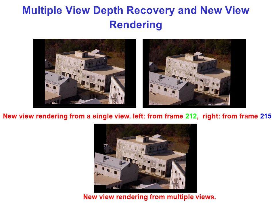 Multiple View Depth Recovery and New View Rendering