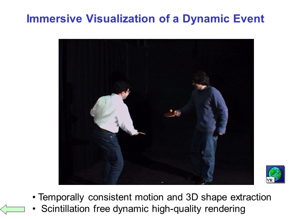 Immersive Visualization of a Dynamic Event