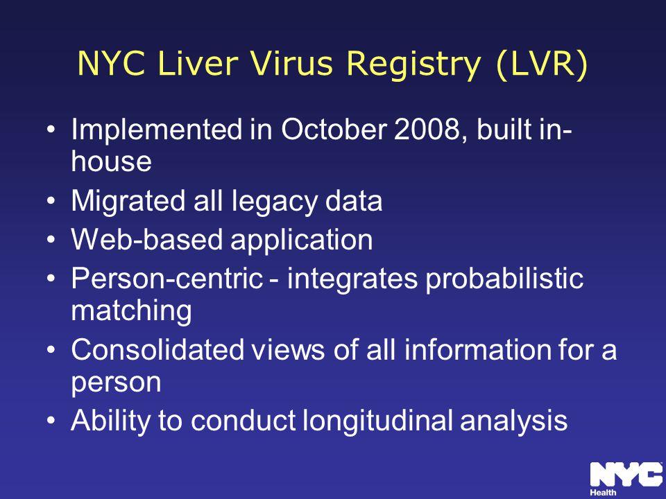 NYC Liver Virus Registry (LVR)