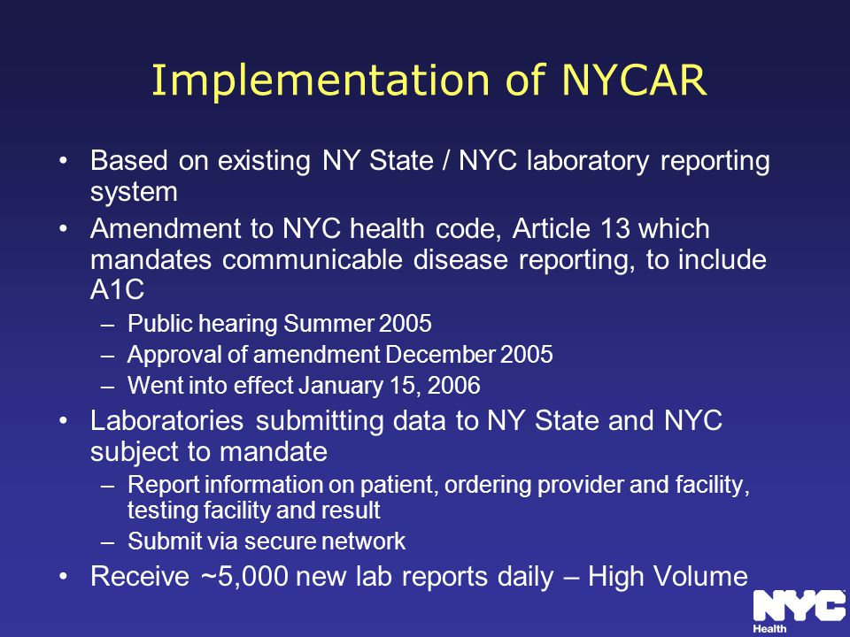 Implementation of NYCAR