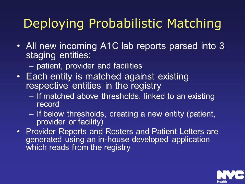 Deploying Probabilistic Matching