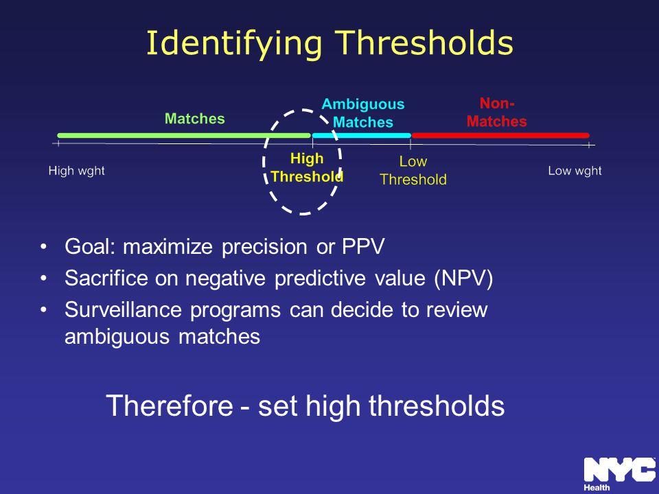 Identifying Thresholds