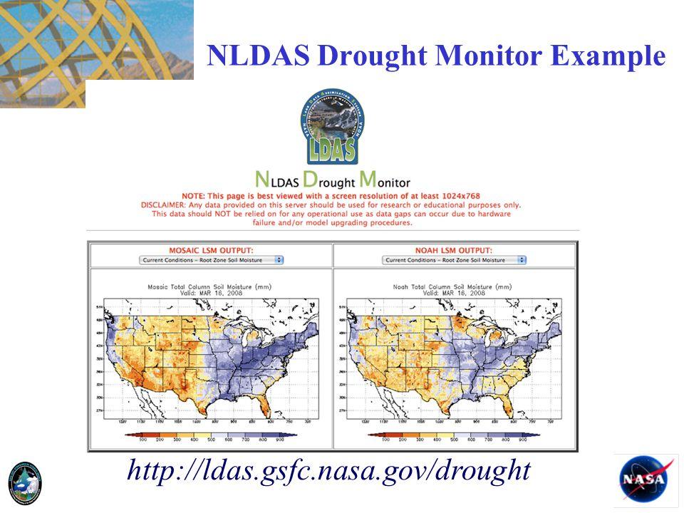 NLDAS Drought Monitor Example