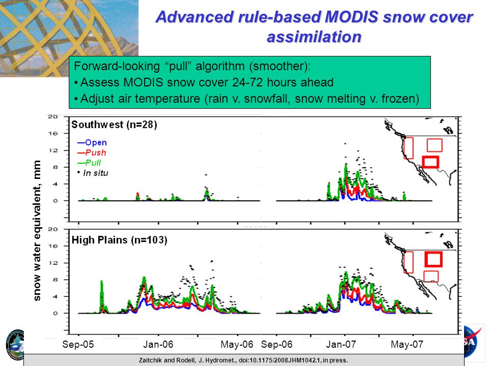 Advanced rule-based MODIS snow cover assimilation