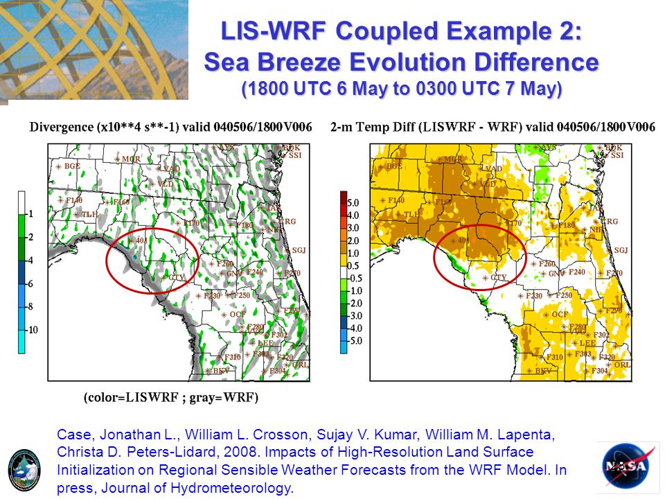 LIS-WRF Coupled Example 2: