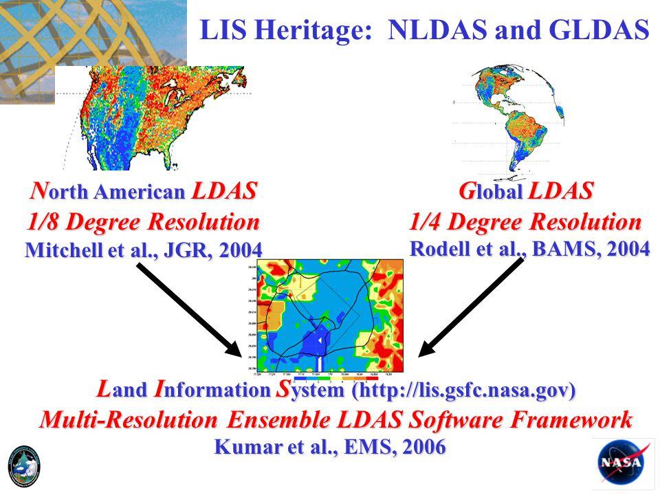 LIS Heritage: NLDAS and GLDAS