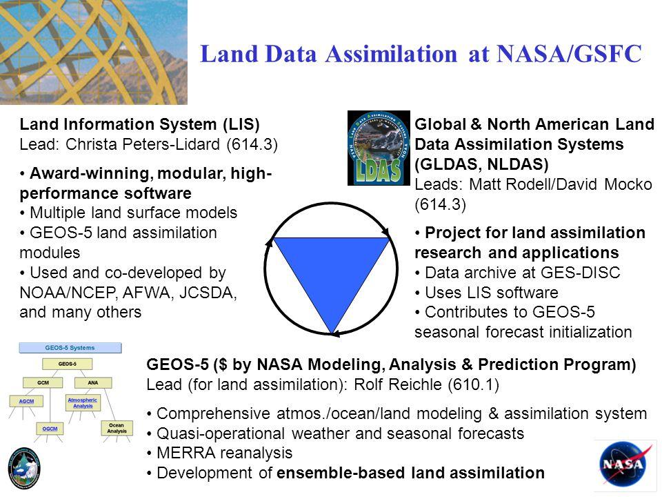Land Data Assimilation at NASA/GSFC