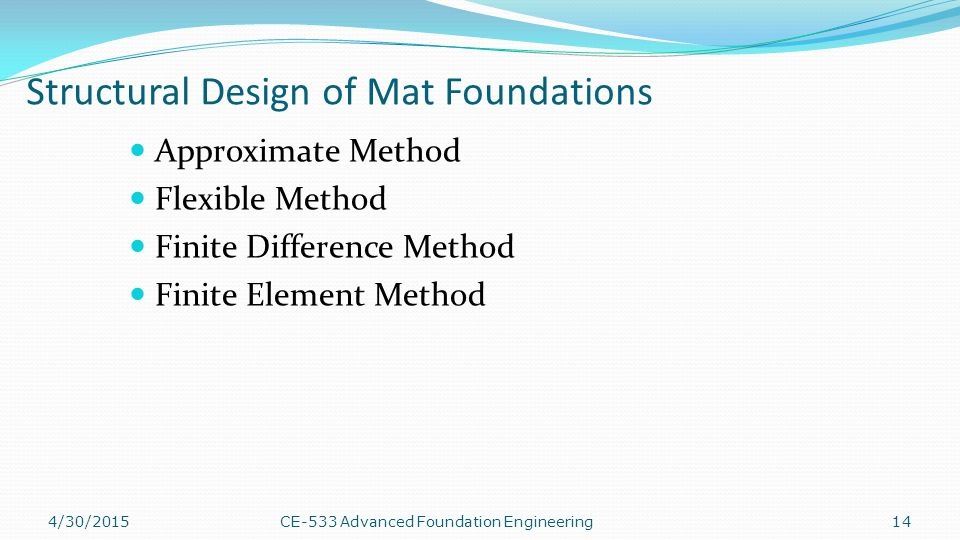 Structural Design of Mat Foundations